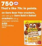 Dare Bear Paw Crackers - 130-180 G Or Dare Bold N Baked Crackers 150 G