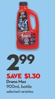 Drano Max 900ml Bottle