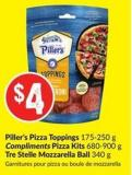 Piller's Pizza Toppings 175-250 g Compliments Pizza Kits 680-900 g Tre Stelle Mozzarella Ball 340 g