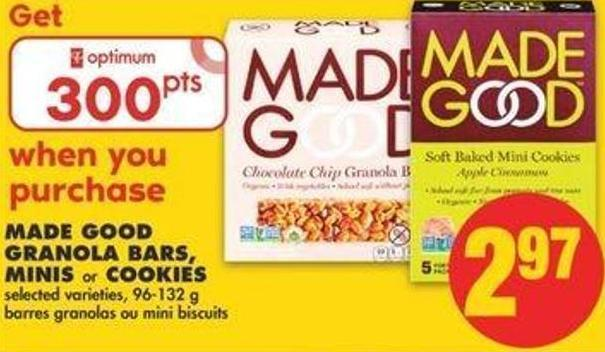 Made Good Granola Bars - Minis Or Cookies - 96-132 G