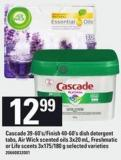 Cascade - 39-60's/finish - 40-60's Dish Detergent Tabs - Air Wick Scented Oils - 3x20 Ml - Freshmatic Or Life Scents - 3x175/180 G