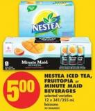 Nestea Iced Tea - Fruitopia or Minute Maid Beverages - 12 X 341/355 mL