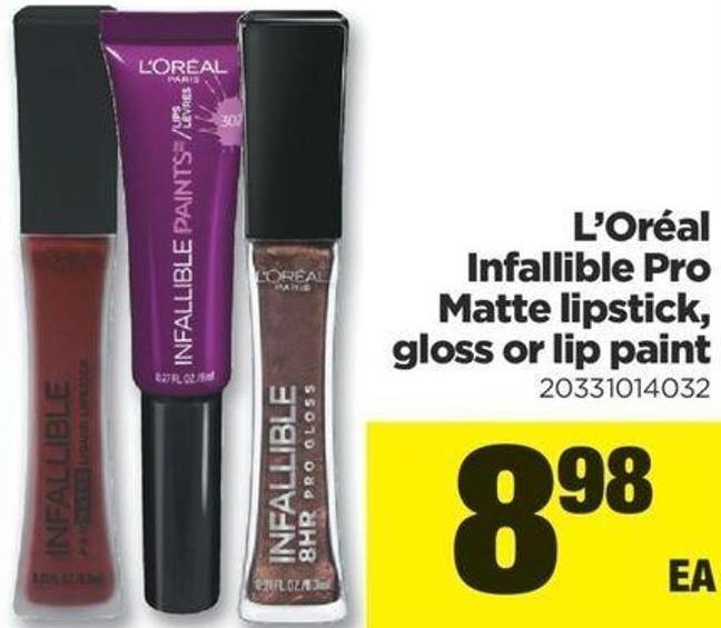 L'oréal Infallible Pro Matte Lipstick - Gloss Or Lip Paint