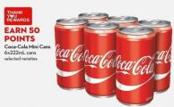 Coca-cola Mini Cans 6x222ml Cans