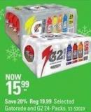 Selected Gatorade and G2 24-packs