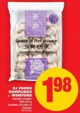 Kj Foods Dumplings or Wontons - 280-450 g