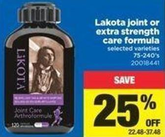 Lakota Joint Or Extra Strength Care Formula - 75-240's
