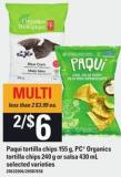 Paqui Tortilla Chips 155 G - PC Organics Tortilla Chips 240 G Or Salsa 430 Ml