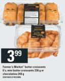 Farmer's Market Butter Croissants - 6's - Mini Butter Croissants - 336 G Or Chocolatine - 240 G