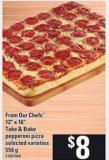 From Our Chefs 12in X 16in Take & Bake Pepperoni Pizza - 556 g