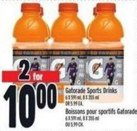 Gatorade Sports Drinks 6 X 591 ml - 8 X 355 ml Or 5.99 Ea.