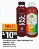 Gt's - 480 mL Or Rise - 414 mL Or Kevita - 450 mL Kombucha Drink