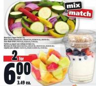 Mixed Berry Yogurt Parfaits 328 G Melon Chunks Melon Mania 380 G - Cantaloupe 380 G - Watermelon 360 G - Honeydew 380 G Store Made Grillers Stir Fry 440 G - Veg Mix 340 G - Tex Mex 360 G