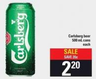 Carlsberg Beer 500 Ml Cans