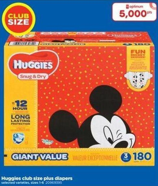 Huggies Club Size Plus Diapers - Sizes 1-6