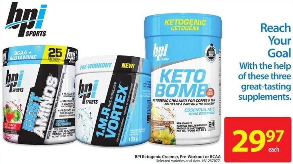 Bpi Ketogenic Creamer - Pre-workout or Bcaa