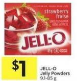 Jell-o Jelly Powders 9.1-85 g
