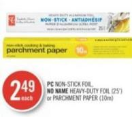 PC Non-stick Foil - No Name Heavy-duty Foil (25') or Parchment Paper (10m)