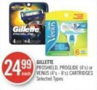 Gillette Proshield - Proglide (4's) or Venus (4's - 8's) Cartridges
