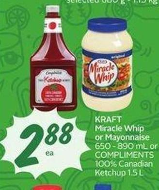 Kraft Miracle Whip or Mayonnaise