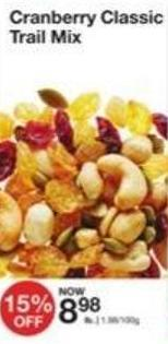Cranberry Classic Trail Mix