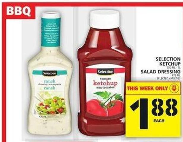 Selection Ketchup Or Salad Dressing