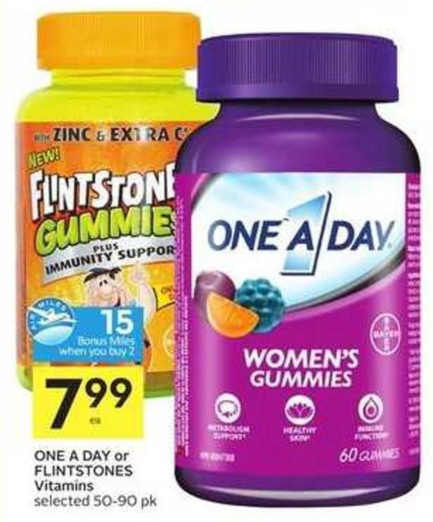 One A Day or Flintstones Vitamins -15 Air Miles Bonus Miles