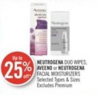 Neutrogena Duo Wipes - Aveeno or Neutrogena Facial Moisturizers