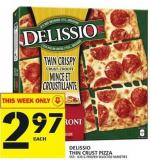 Delissio Thin Crust Pizza 555 - 630 G Frozen