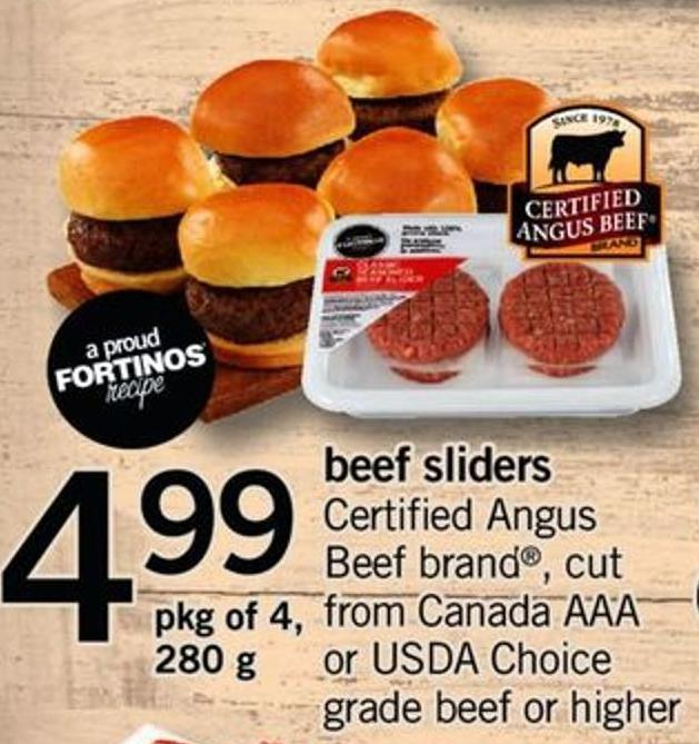 Beef Sliders - Pkg of 4 - 280 g