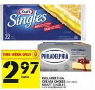Philadelphia Cream Cheese Or Kraft Singles