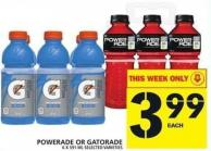 Powerade Or Gatorade - 6 X 591 mL