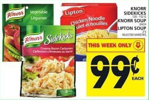 Knorr Sidekicks Or Knorr Soup Or Lipton Soup