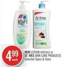 Keri Lotion (443ml) or St. Ives Skin Care Products
