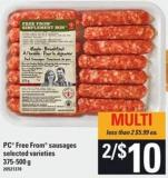 PC Free From Sausages - 375/500 G