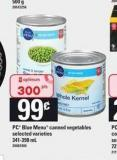 PC Blue Menu Canned Vegetables - 341-398 mL