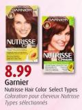 Garnier Nutrisse Hair Color Select Types