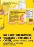 No Name Breadsticks - Crackers or Pretzels & Cheese - 3x29 g