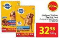 Pedigree Vitality+ Dry Dog Food 20 Kg