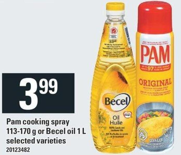 Pam Cooking Spray - 113-170 G Or Becel Oil 1 L