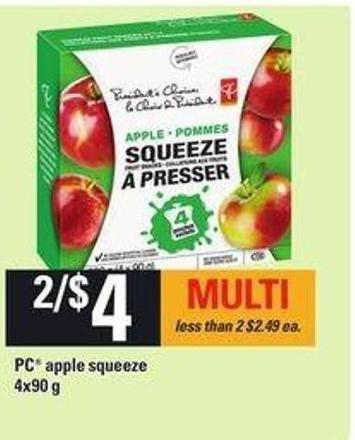 PC Apple Squeeze - 4x90 g
