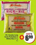 Mr. Goudas Long Grain Parboiled or White Rice 8 Kg