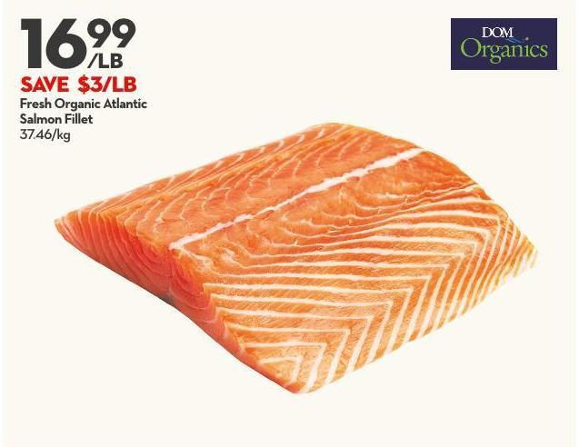 Fresh Organic Atlantic  Salmon Fillet 37.46/kg