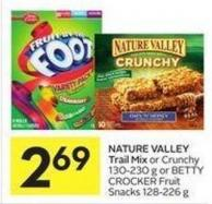 Nature Valley Trail Mix or Crunchy 130-230 g or Betty Crocker Fruit Snacks 128-226 g