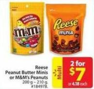 Reese Peanut Butter Minis or M&m's Peanuts