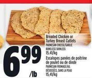 Breaded Chicken Or Turkey Breast Cutlets