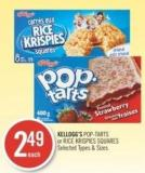 Kellogg's Pop-tarts or Rice Krispies Squares