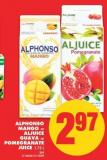 Alphonso Mango or Aljuice Guava or Pomegranate Juice - 1.75 L