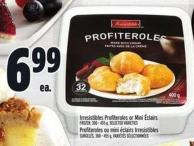 Irresistibles Profiteroles Or Mini ÉClairs Frozen - 300 - 455 g -