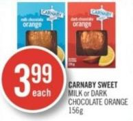 Carnaby Sweet Milk or Dark Chocolate Orange 156 g